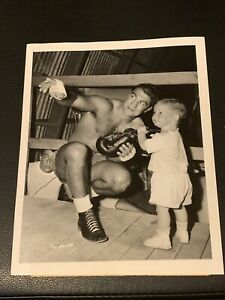 Stunningly Clean Original 1954 Rocky Marciano Type 1 Boxing Photo PSA Ready Mint