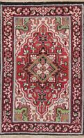 Traditional Medallion Hand-Knotted Geometric Oriental Area Rug Wool Carpet 3x5