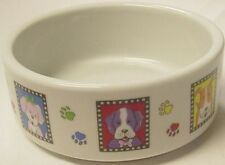 """CERAMIC DISH 7.5"""" """"PICTURE POTTERY"""" for DOGS 1 Bowl, Standard Dog Bowl"""
