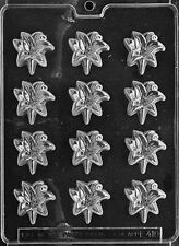 BS LILLY PIECES mold Chocolate Candy bunnies eared rabbit lillies flowers E418