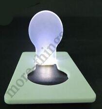 Blanca bolsillo luz portátil Tarjeta creativa noche de la lámpara de luz LED