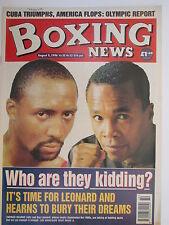 Boxing News 9 Aug 1996 Eubank Hearns Leonard Steve Foster,Dean Pithie,Johnson