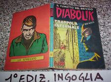DIABOLIK PRIMA 1° SERIE ORIGINALE N.11 DEL 1963 INGOGLIA OTTIMO TIPO KRIMINAL