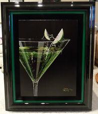 "*Michael Godard-""TESTING THE WATER"" Apple Martini-Cocktails-Bar-Fun-Art*G*FRAMED"