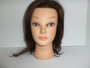 Marianna Brand Ms Kim Manikin Cosmetology Mannequin Head 100% Human Hair 14102