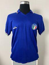 Original Italy Home Football Shirt Jersey 1986-1988 (XL)