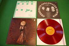 CCR Mardi Gras Japan LP 1st. press 1972 red vinyl Fantasy LFP-80545