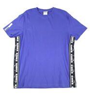 Diadora Mens T-Shirts Blue Size Large L Logo Print Graphic Tee Crewneck 020