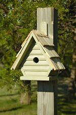 "Birdhouses - ""Clapham Manor"" Wooden Birdhouse - Celery Green - Garden Decor"