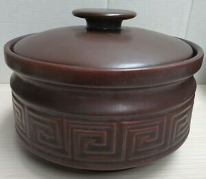 Doulton Oven to Table Grecian Key Pattern Casserole Dish 1970s Made in Australia