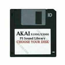 Akai S1000 / S3000 Floppy Disk PS Sound Library Choose Your Disk