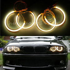 4x Angel Eye Halo Light Ring CCFL for BMW E46 3 Series Coupe Sedan Headlight Car