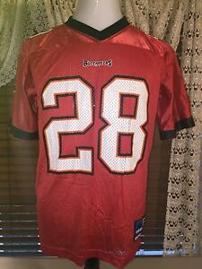 Youth VGUC ADIDAS Buccaneers Football #28 Dunn XL Extra Large Red Jersey