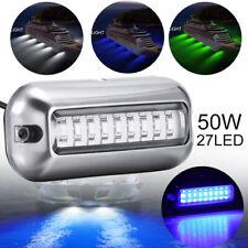 2Stk 27LED Wasserdicht Bootsbeleuchtung Unterwasser Beleuchtung Hecklicht