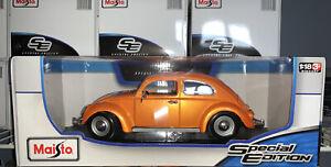 1:18 Maisto 1955 Volkswagen Kafer Beetle Classic 🇩🇪 Car 1/18  Orange
