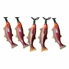 River's Edge Products Trout String Lights 10ft Cord 10 Lights Holiday Lighting