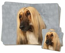 Afghan Hound Dog Twin 2x Placemats+2x Coasters Set in Gift Box, AD-AG1PC