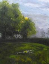 Treetop Sunrise : Original Impressionist Oil Painting Ulster Artist Alan Dickson