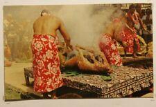 LUAU PIG HAWAII ACTUAL PHOTO POSTCARD  277