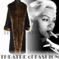 VINTAGE manteau 40 S veste de luxe 30 S 10 12 14 16 18 20 50 S Femme Fatale noir Vamp