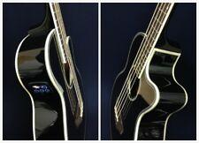 4/4 4-String Haze Black Acoustic Bass Guitar w/EQ,Tuner+Free Gig Bag,Picks, Lead