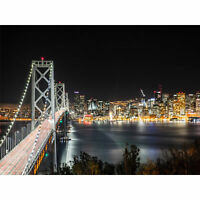 San Francisco Oakland Bay Bridge Large Canvas Wall Art Print