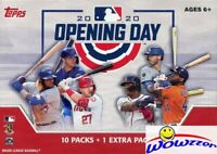 2020 Topps Opening Day Baseball HUGE Factory Sealed 11 Pack Blaster Box-77 Cards
