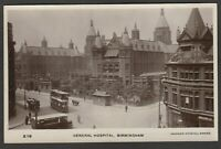 Postcard Birmingham early view of the General Hospital RP by Hudson