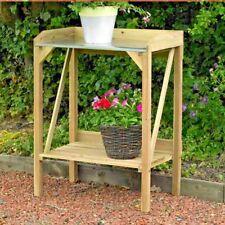 Wooden Potting Table Garden Bench Greenhouse Plant Staging Shelf Work Station