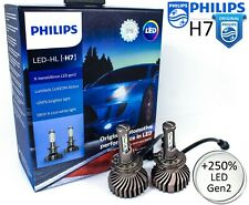 H7 LED Philips X-treme Ultinon gen2 6500K +250% Car Headlight Bulbs 11972XUWX2