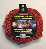 Airhead Deluxe Tube Tow Rope 60 Foot 4 Riders 680 Pound Weight Capacity New