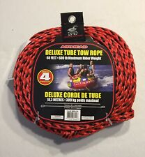 New listing Airhead Deluxe Tube Tow Rope 60 Foot 4 Riders 680 Pound Weight Capacity New
