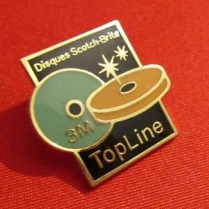 PINS PIN'S BADGE VINTAGE COLLECTION PINS DISQUES SCOTCH BRITE 3M TOP LINE