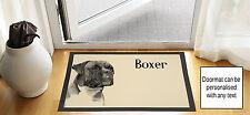 61cmx40.6cm Boxer Hund creme Zeichen Zeichnen Design Eingang Fußmatte rutschfest