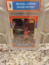 1986 Fleer Michael Jordan RC REPRINT Slabbed - #57