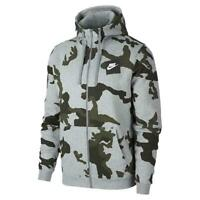 Nike Club Mens Dark Grey Camo Fleece Hoodie Gym Sports Hooded Sweatshirt