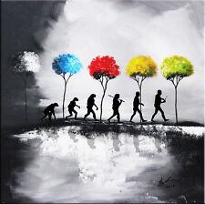 Evolution des menschen stammbaum Bilder Leinwand Wandbild Kunstdruck XXL 659A