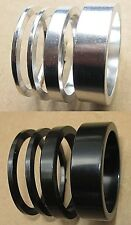 BMX Mountain Highbred Bicycle 1 1/8 Headset Spacer Set 2mm 5mm 10mm AlloySil/Blk