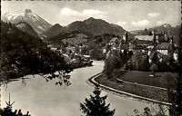 Füssen am Lech Bayern s/w AK ~1950/60 Blick auf Hohes Schloß St. Mang Kloster
