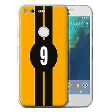 "STUFF4 Gel/TPU Case for Google Pixel XL (5.5"")/Racing Car Stripes/Ford/Yellow"