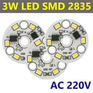 LED 3W SMD 2835 Chip COB Bulb LIGHT BEADS High Power Cold White AC 220V IC SMART
