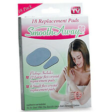 SMOOTH AWAY Hair Removal 18 Replacement Pads SEEN ON TV Refills 12 Large 6 Small