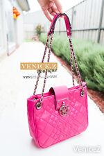 BNWT RRP$189 GUESS ALIZA 2Way Satchel Shoulder Bag Chain Pink Flamingo
