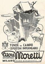 W9440 Tende da campo Ettore Moretti - Pubblicità del 1937 - Old advertising
