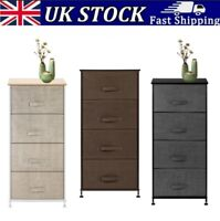 4Tier Drawers Storage Tower Dresser Easy Pull with Metal Frame Folding Organizer