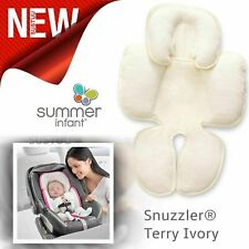 Summer Infant Snuzzler ¦Body & Head Support Car Seat¦Pram Liner¦Terry Ivory¦New