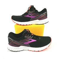 Brooks Women's Adrenaline GTS 19 Running Shoes Black/Purple/Coral Size 9.5 EU 41