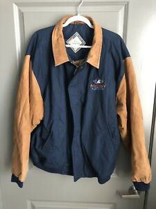 Vintage Disney Original Varsity Jacket Size XXL 90s, Leather Sleeves