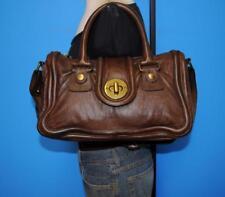 CHLOE AVA Brown Lambskin Leather Satchel Shoulder Purse Tote Bag MSRP $1800