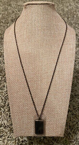 NEW Emporio Armani Mens Necklace EGS2251200 Stainless Steel Brown Black
